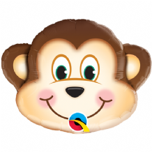"Mischievous Monkey Foil Balloon (14"" Air-Fill) 1pc"
